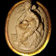 High Relief Antique Lava Cameo