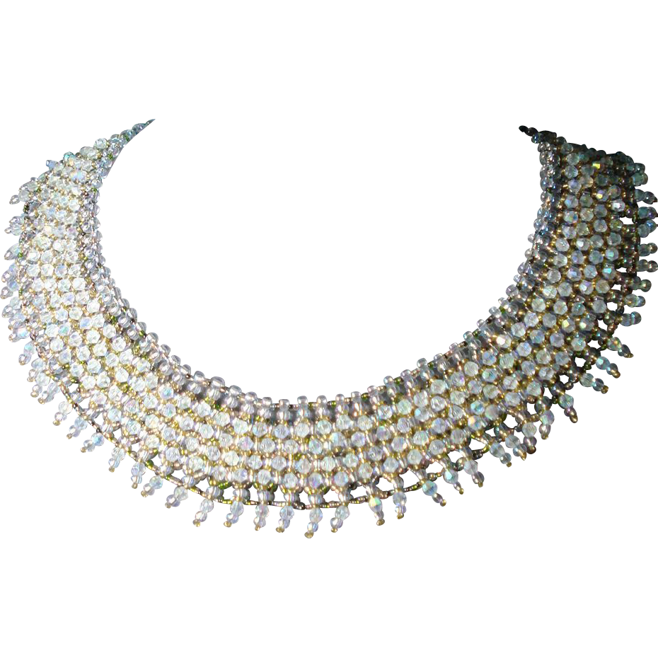 AB Swarovski Crystal Collar Necklace