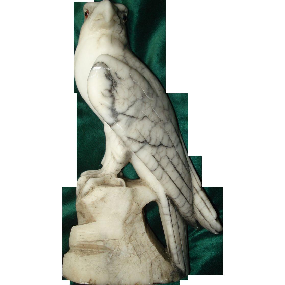 Alabaster Italian Carved Eagle