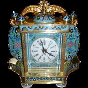Cloisonne Porcelain Portrait Clock