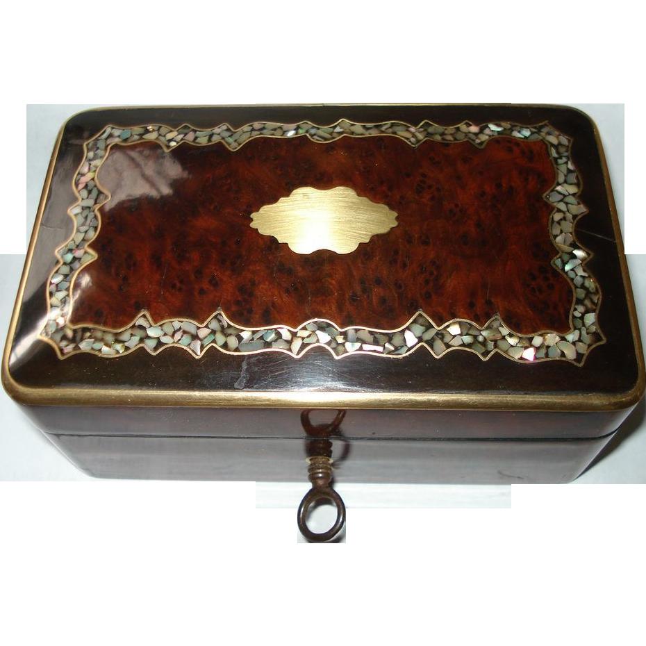 Napoleon III MOP Marquetry Box