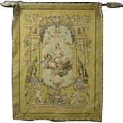 Large French Cherub Muse Tapestry