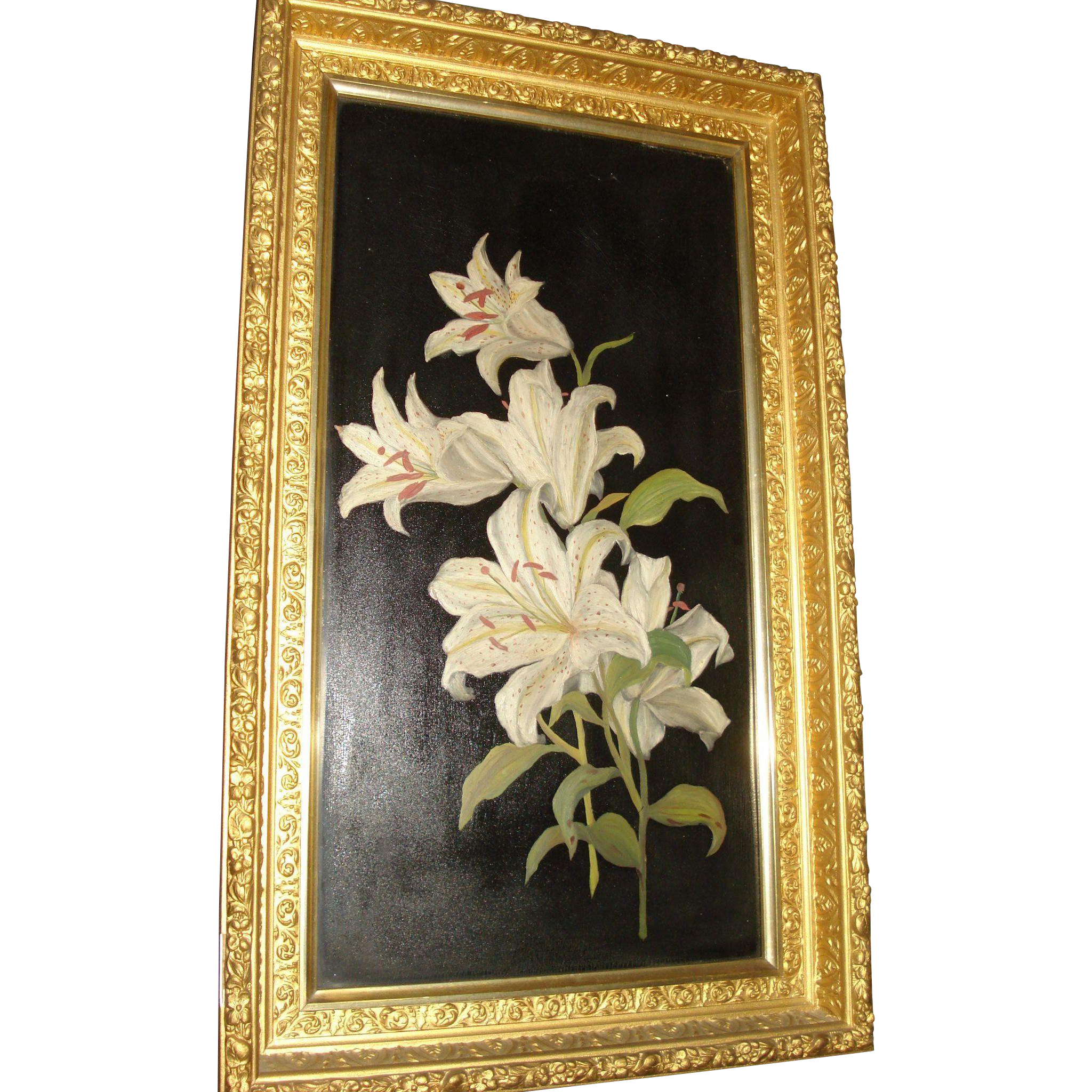 Oil Painting Floral Motif