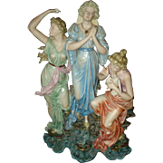 Triple Goddess  German Porcelain figurine