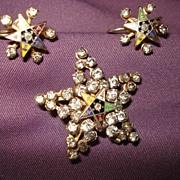 Vintage Eastern Star Paste Jewelry