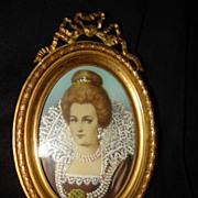 Miniature Portrait Of  Maria De Medici