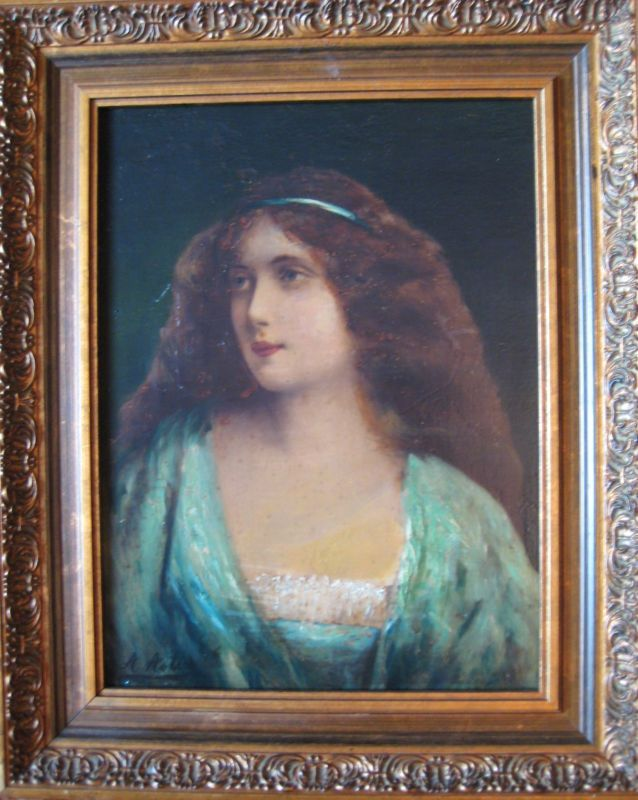 Painting Of An Allegorical Woman Signed Asti