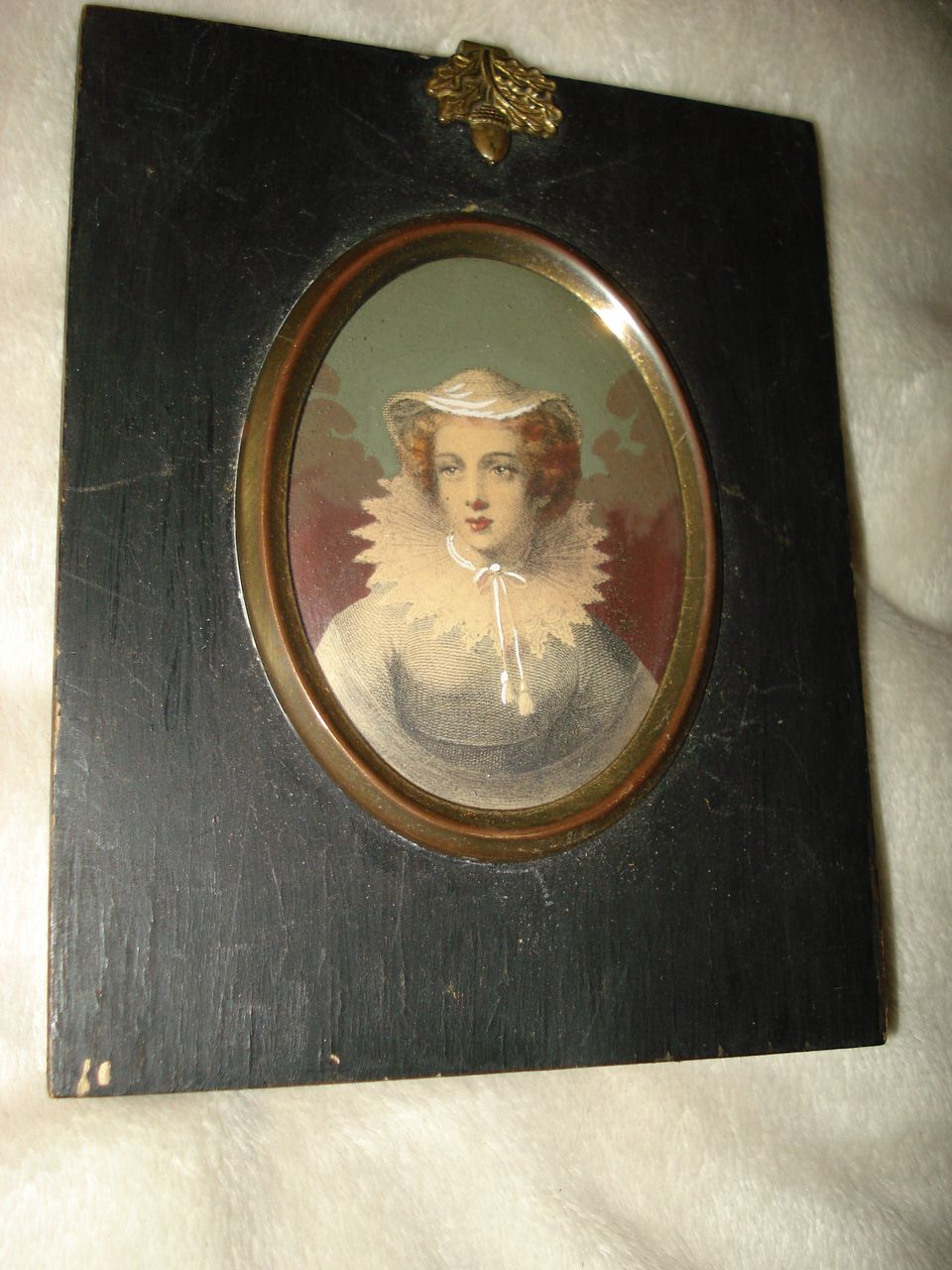 Miniature Original Austrian Engraving Mary Queen Scot's