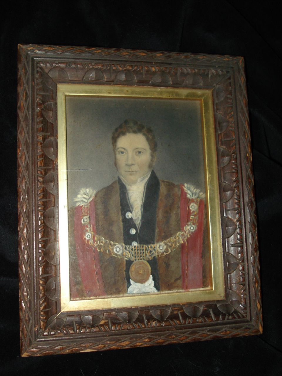 English School Hand Painted Portrait Of Important Gent