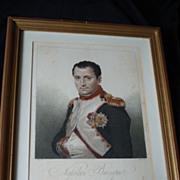 Portrait Engraving Napoleon Bonaparte