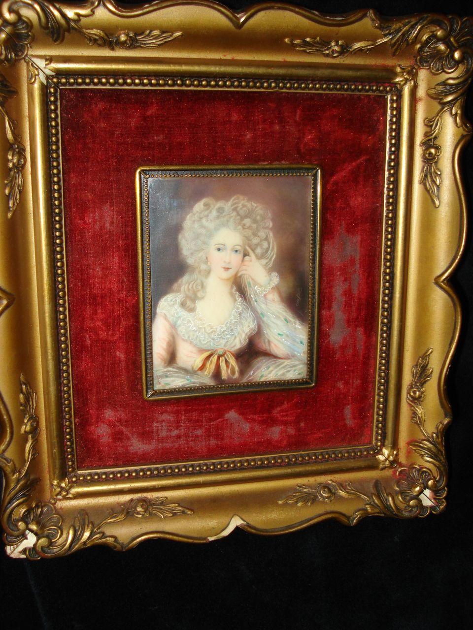 Miniature Portrait Duchess Of Devonshire