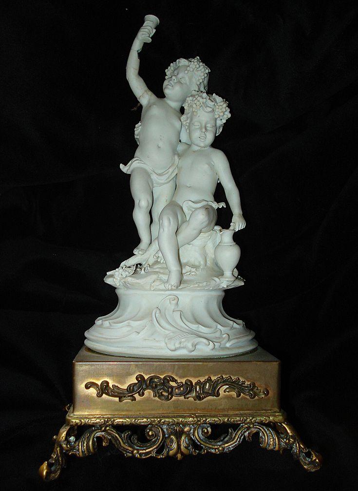 Italian Parian Putti Figurine