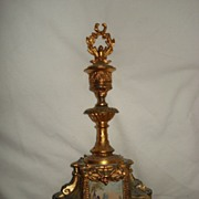 French Gilded Spelter Candle Holder and Snuffer