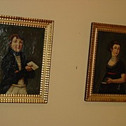 French Paintings Of Napoleon and Josephine Bonaparte c18th