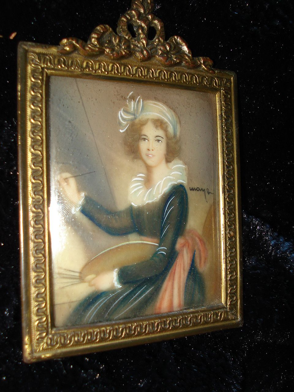 Miniature Self Portrait Vigee Le Brun