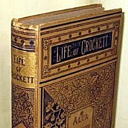 Rare Book 1884 Life Of David Crockett