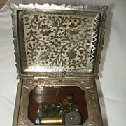 Vintage Silver Plate Fred Zimbalist  Music Box