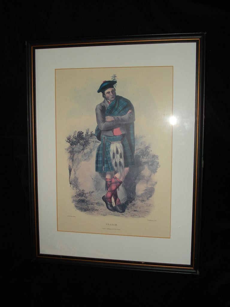 "Old Lithograph ""Graham"" Scotsman"