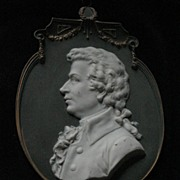 German Porcelain Plaque Of Wolfgang Amedeus Mozart