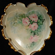 Rare Willets Belleek Heart Dish
