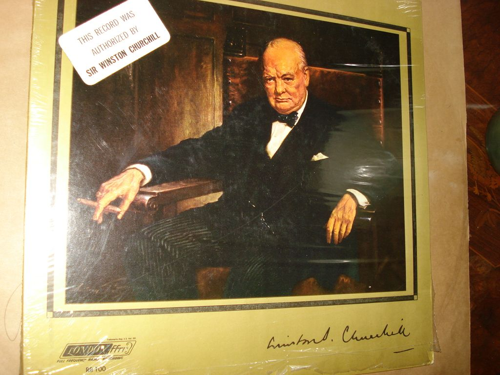 WWII Audio disc Record Winston Churchill Harry Truman VE