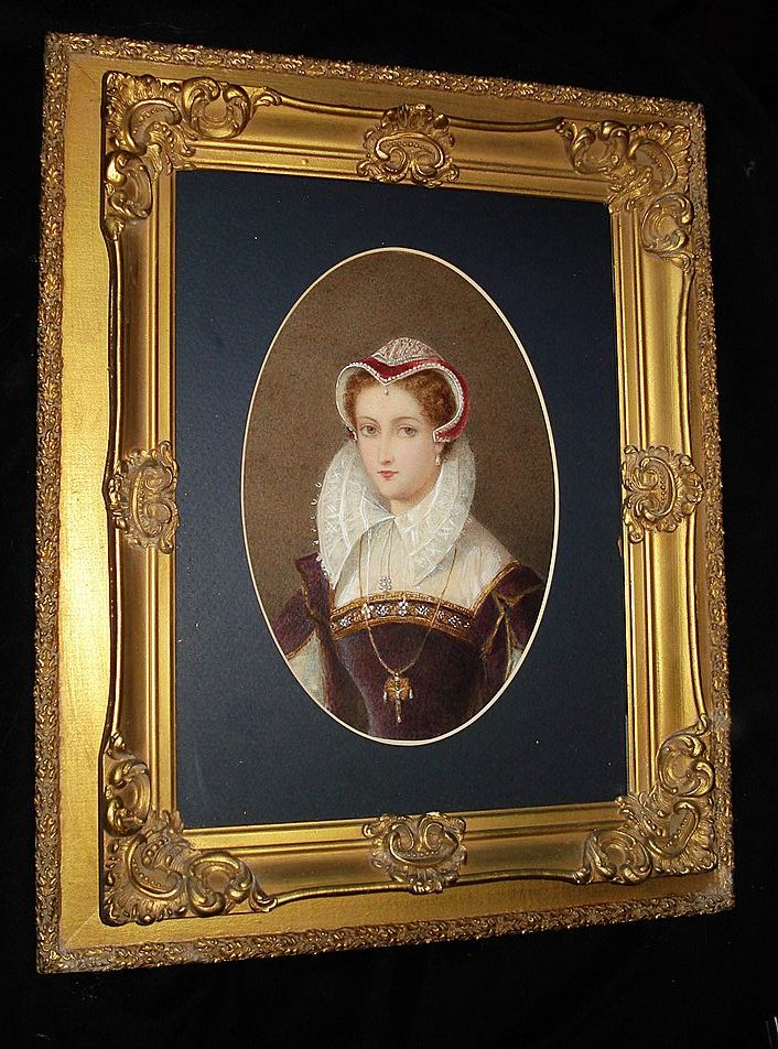 Mary Queen Of Scot's Water colour Portrait