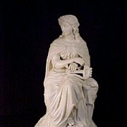 English Parian Woman With Lyre c19th