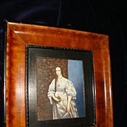 "Miniature Rare German Water Colour ""Henriette Van Frankreich"""