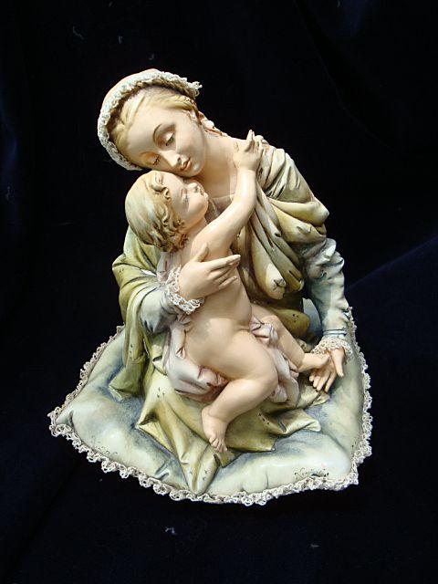 Large Madonna and Child signed Antonio Borsato