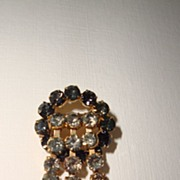 Vintage Diamante Waterfall Brooch