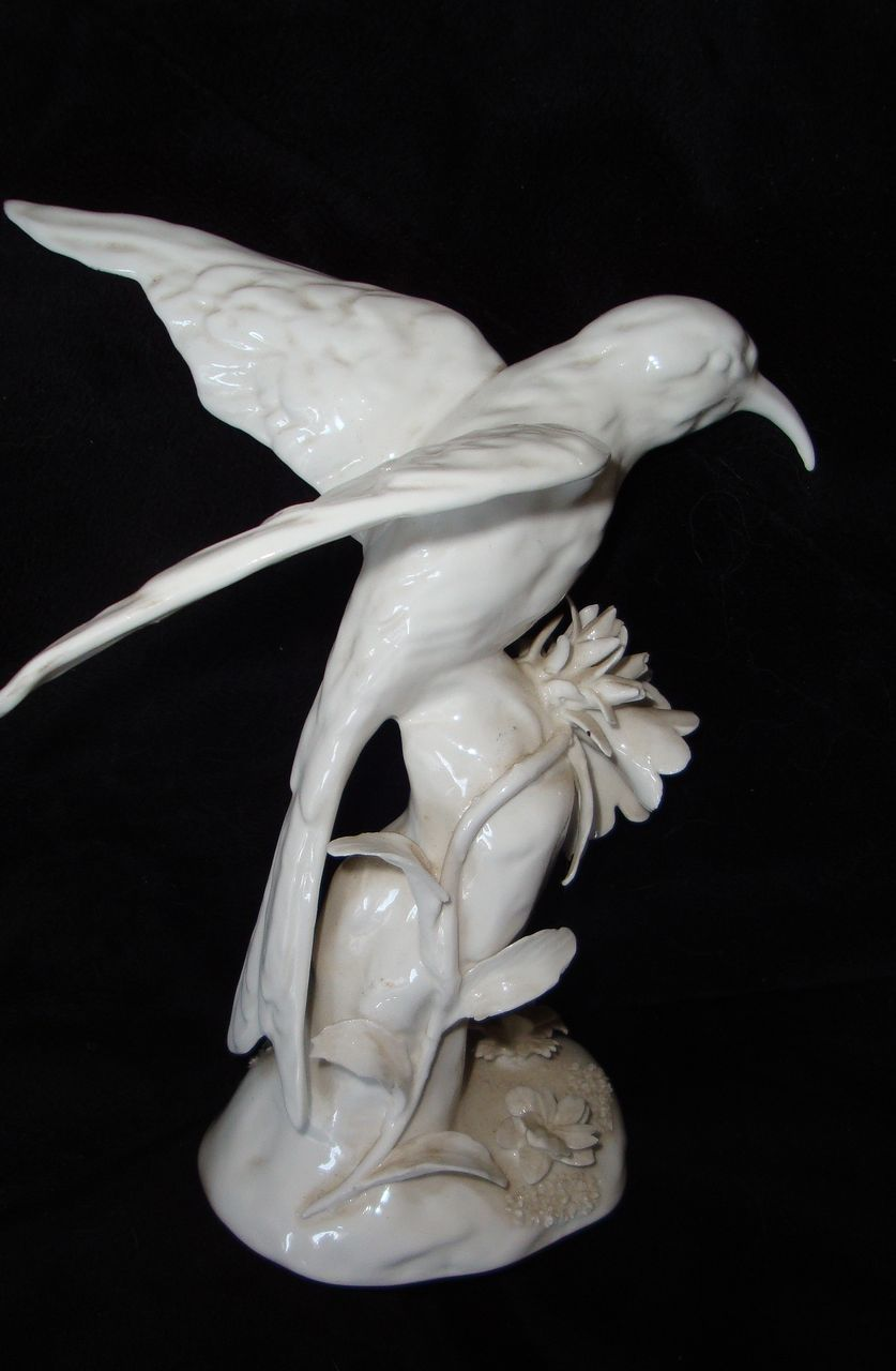 Signed Staffordshire Porcelain Hummingbird Figurine