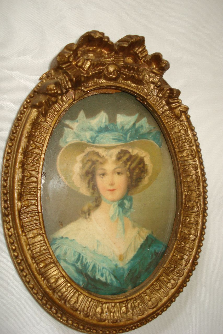 Miniature Water Colour Portrait Of A Woman On Card c19th