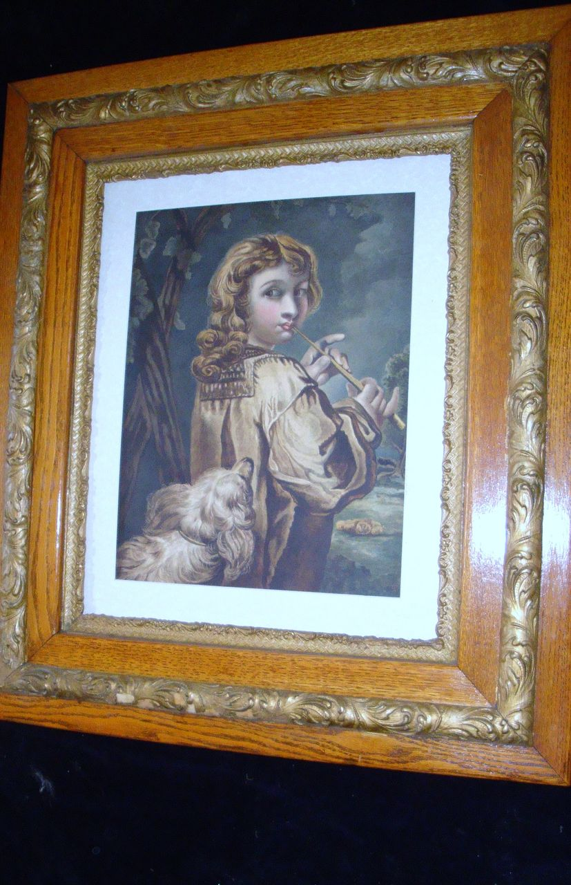 "19th Century English Water Colour Painting ""The Shepherd Boy"""