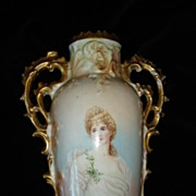 Austrian Porcelain Portrait Vase Queen Louise