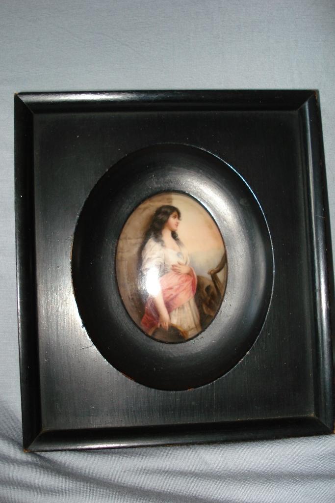 German KPM Porcelain Portrait Of Maiden c19th