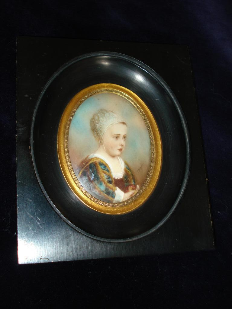 Miniature Portrait Of King Charles I 19th