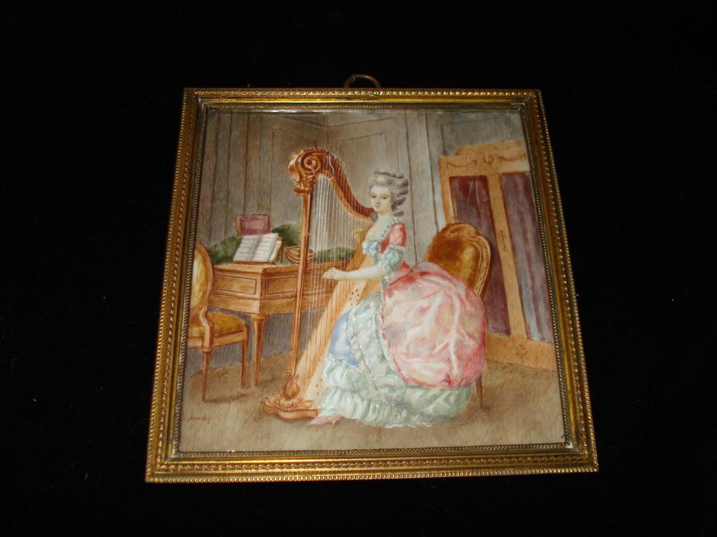 Water Colour Of Composer Emilie Folville c1880