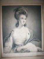 Large Mezzotint 1910 DUCHESS OF RUTLAND,After Reynolds