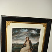 Important Rare Genuine Lithograph of Queen Elizabeth Signed