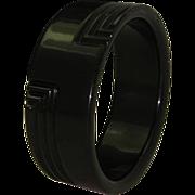 Art Deco Black Licorice Celluloid Bracelet