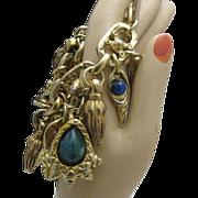 Chunky RunWay Style Charm Bracelet c1970