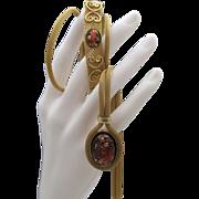 Copper Confetti Lucite Mesh Necklace Bracelet Set