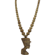 Art Deco Egyptian Revival Bone Necklace