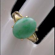 Ladies Moss Jade Ring 14 K Gold size 6 App 700.00