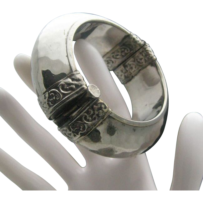Domed C1960 Silver Bracelet India