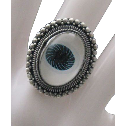 Sterling 925 Silver Evil Eye Ring Unisex size 5 3.4