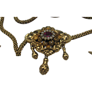 Austro Hungarian 18 K Gold Bohemian Seed Pearl Necklace Earrings 6700.00 CAD Appraisal value
