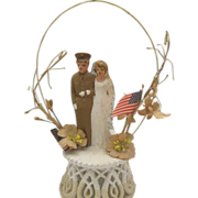 C1944 Wedding Cake Topper WW11 Military