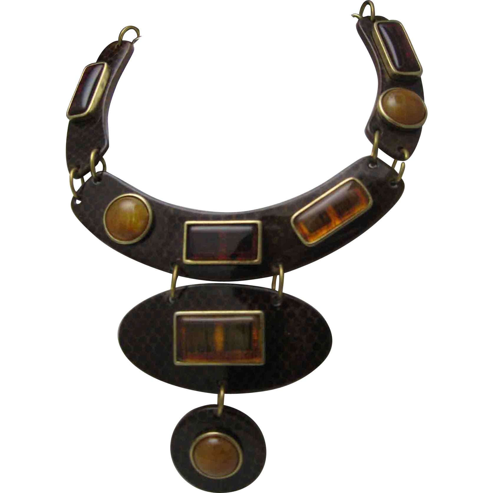 Celluloid /Lucite Snake Root Beer Collar