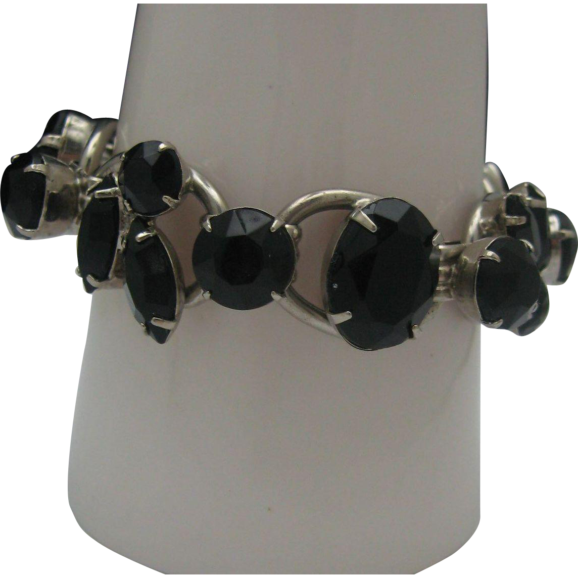 French Jet Juliana Bracelet 1960's